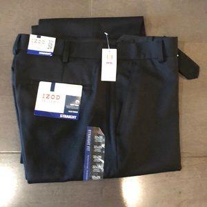 NWT black men's Izod dress pants 32x29.